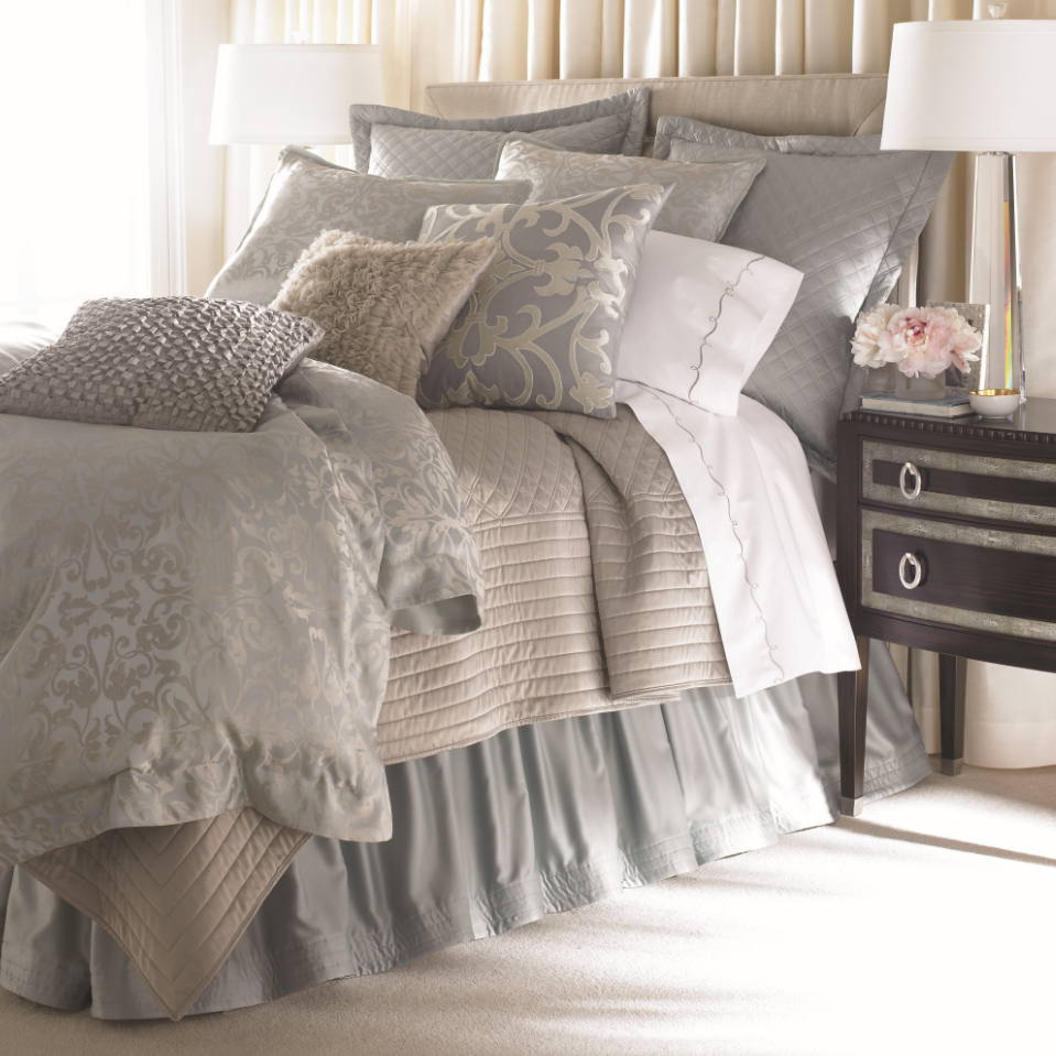 Lili alessandra jackie in luxurious silk tencel fabric in for Bedding fabric bedding