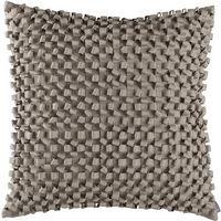 Lili Alessandra Ribbon Silver Square Pillow