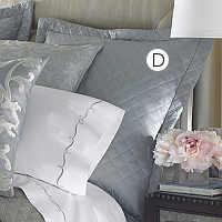 Lili Alessandra Silk & Sensibility Silver/Blue Euro Pillow