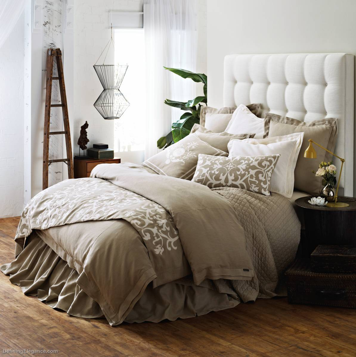 Etonnant Lili Alessandra Jon L Bedding Flax Linen With Tailored Double Flange  Collection