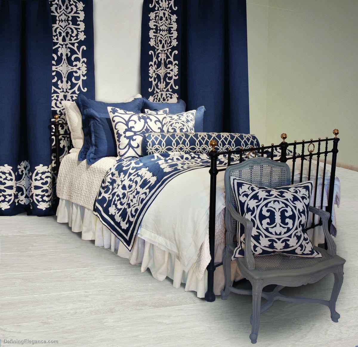Lili Alessandra Jon L Navy Tailored Sophistication Bedding