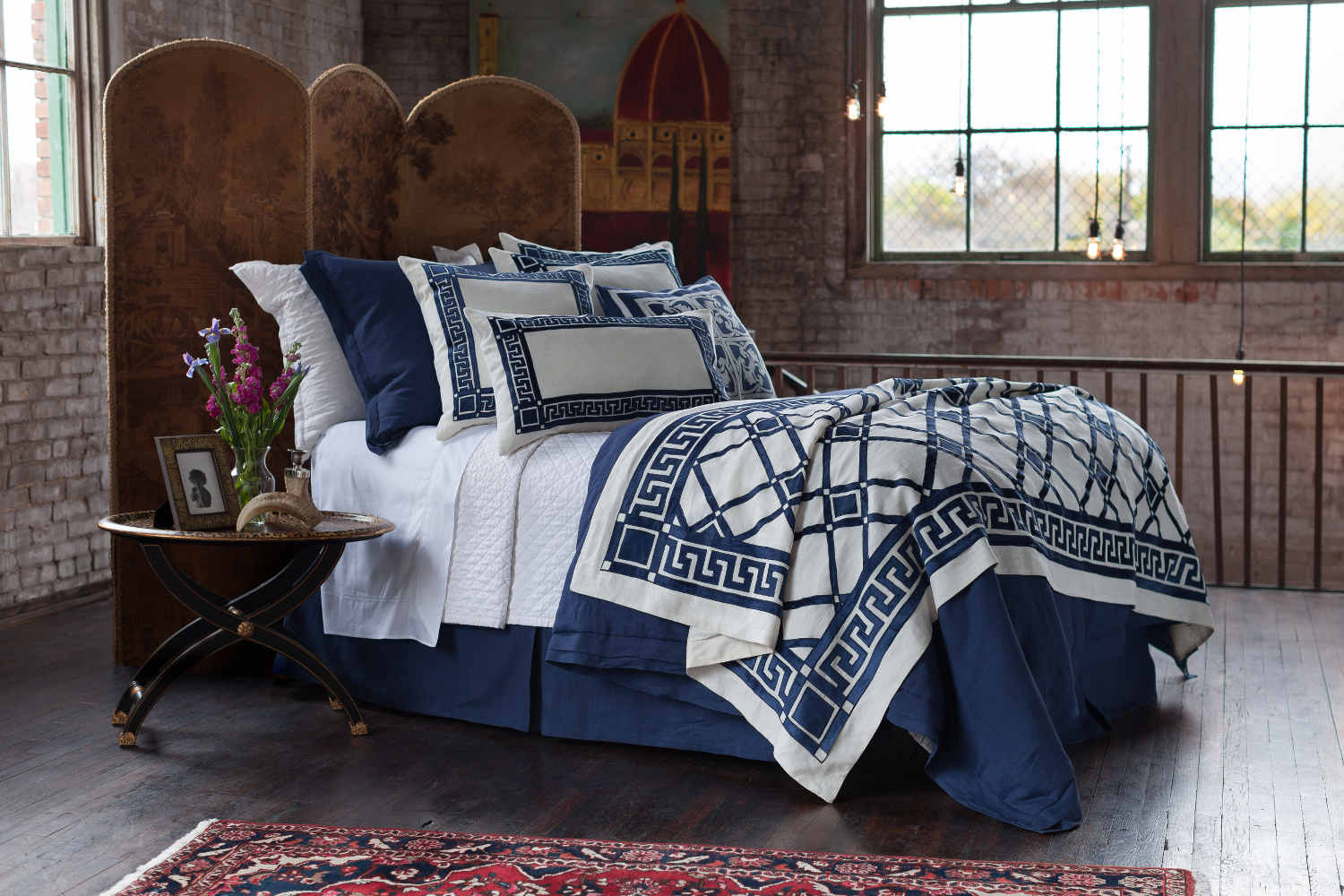 uuu lili alessandra jon l navy tailored sophistication bedding collection - Navy Bedding