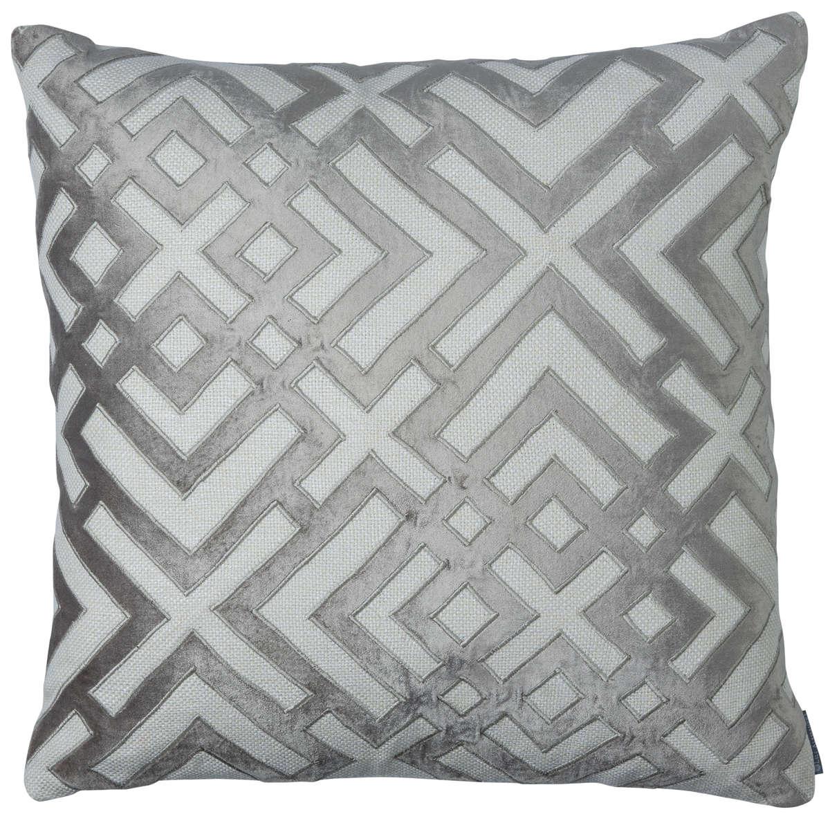 Lili Alessandra Karl Ivory/Platinum Pillow
