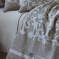This French inspired throw by Lili Alessandra will add eloquence to any room and is available in three different color combinations.