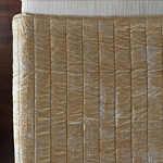 Lili Alessandra Moderne Straw Velvet/Silver Print Quilted Coverlet/Blanket