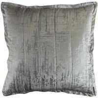 Lili Alessandra's Moderne Ivory Velvet/Silver Print Quilted Pillow & Coverlet/Blanket