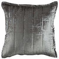 Lili Alessandra's Moderne Silver Velvet/Silver Print Quilted Pillow & Coverlet/Blanket