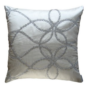 Lili Alessandra Whimsical Square & Sm. Rectangle Ivory Pillow