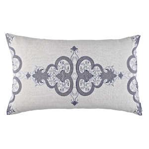 Lili Alessandra Nina & Bracelet Sand Linen Decorative Pillows - Nina Lg Rectangle Pillow Light Grey / Medium Grey (18x30).