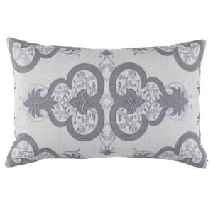 Lili Alessandra Nina & Bracelet Sand Linen Decorative Pillows - Nina Sm Rectangle Pillow Light Grey / Medium Grey (14X22).
