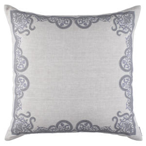 Lili Alessandra Nina & Bracelet Sand Linen Decorative Pillows - Nina European Pillow Light Grey / Medium Grey (28X28).