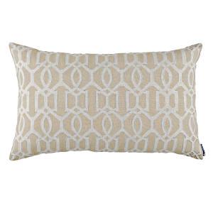 Lili Alessandra Nina & Bracelet Sand Linen Decorative Pillows - Bracelet Lg Rectangle Pillow Dark Sand / Light Sand 18X30 .