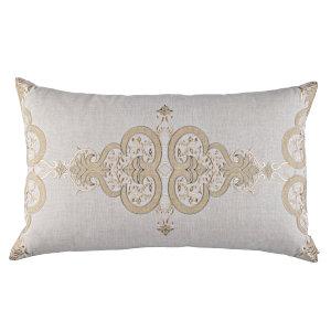 Lili Alessandra Nina & Bracelet Sand Linen Decorative Pillows - Nina Lg Rectangle Pillow Light Sand / Gold / Dark Sand 18X30.