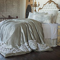 Lili Alessandra Onasis Bedding Collection is bold, geometric and versatile.