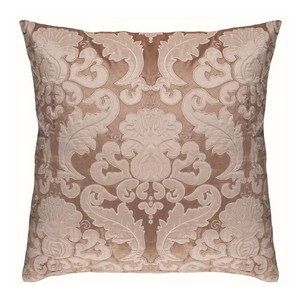 Lili Alessandra Versailles Square Pillow Champagne/Ivory Velvet Pillows