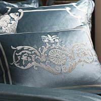 Shades of silver, ivory, champagne velvet modern pillows.