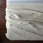 Lili Alessandra Retro Ivory Quilted Coverlet