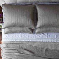 Lili Alessandra Retro Pewter Quilted Coverlet & Pillow Collection