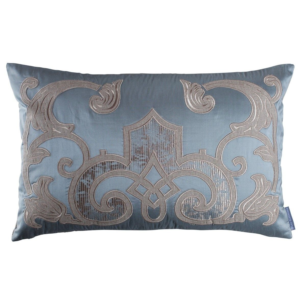 and classic products pillows slateblue allaire decorative linens fig traditional blue slate pillow