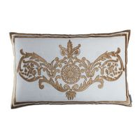 Lili Alessandra Paris White Linen/Straw Velvet Pillow