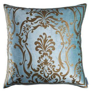 Lili Alessandra Louie Sea Foam Velvet/Gold Print Pillow