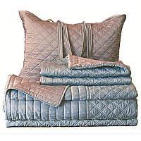 Silk & Sensibility Silver/Blue Reversible Bedding