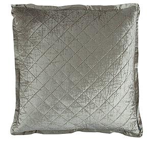 Lili Alessandra Chloe Ice Silver Velvet Pillow