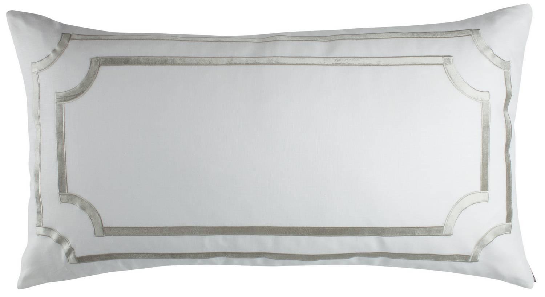 Lili Alessandra Soho White Linen With Ice Silver Velvet