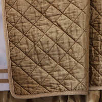 Lili Alessandra Chloe Diamond Quilted Straw Velvet Coverlet Collection