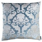Lili Alessandra Versailles Ice Blue Velvet With Ivory Velvet Pillow