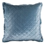 Lili Alessandra Chloe Prewashed Velvet / Ice Blue (washable) Quilted Pillow