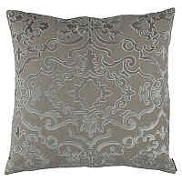 Lili Alessandra Valencia Stone Linen with Fawn Velvet Applique Pillow