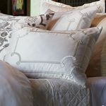 Lili Alessandra Vendome Silk & Sensibility Ivory Dec Pillows