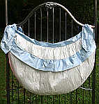 Lulla Smith Laundered Linen Crib Flange Toy Bag