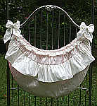 Lulla Smith Laundered Linen Crib Ruffle Toy Bag