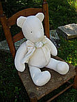 Lulla Smith Laundered Linen Teddy Bear