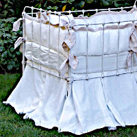 Lulla Smith Baby Bedding Avignon Linens - Laundered Linen