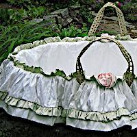 Lulla Smith Baby Bedding Beatrice Moses Basket