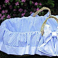 Lulla Smith Baby Bedding Bows Moses Basket