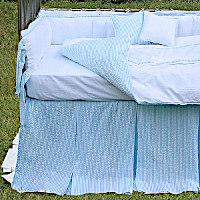 Lulla Smith Baby Bedding Cape Cod Linen Set - Cotton Seersucker