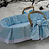 Lulla Smith Baby Bedding Cape Cod Moses Basket