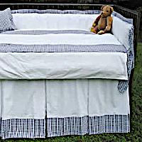 Lulla Smith Baby Bedding Charleston Linen Set - Cotton Seersucker
