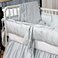 Lulla Smith Baby Bedding Cocoon Linen Set - Dupioni Silk