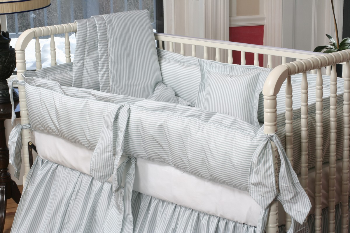 Lulla Smith Baby Bedding Cocoon Linen Set Dupioni Silk