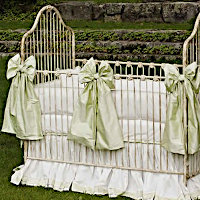 Lulla Smith Baby Bedding Darby Linen Set - Cotton and Dupioni Silk