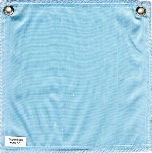 Lulla Smith  Dupioni Silk Fabric Sample - Aqua