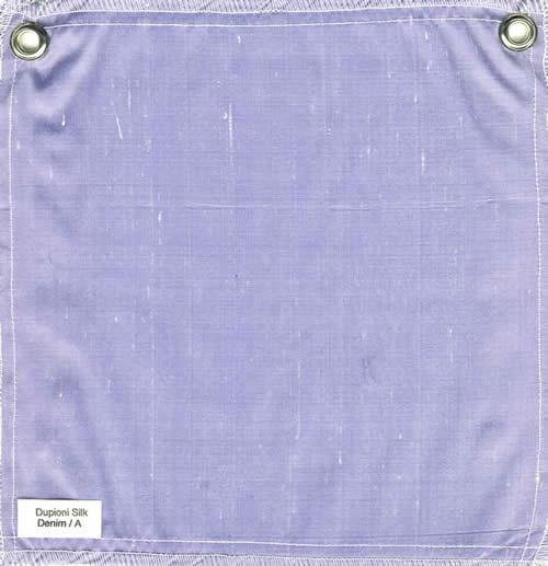 Lulla Smith  Dupioni Silk Fabric Sample - Denim