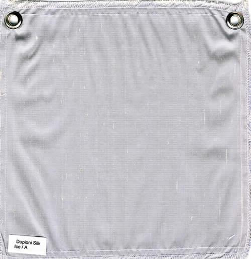 Lulla Smith  Dupioni Silk Fabric Sample - Ice