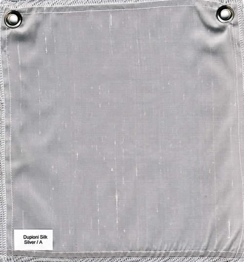 Lulla Smith  Dupioni Silk Fabric Sample - Silver