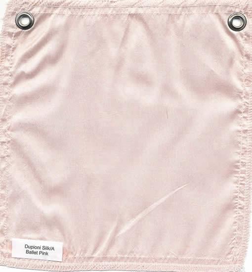 Lulla Smith  Dupioni Silk Fabric Sample - Ballerina
